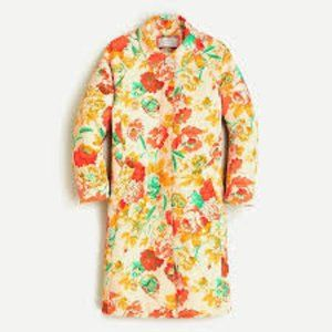 JCrew collection trench ratti Woodstock floral